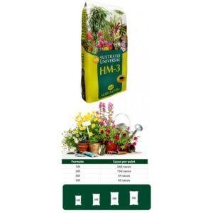 Sustrato / Turba Universal para Interior / Exterior Agri-Natura HM-2 (10L)