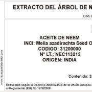 046C Ref.10206V (Etiqueta Extracto Neem) - Imprimible